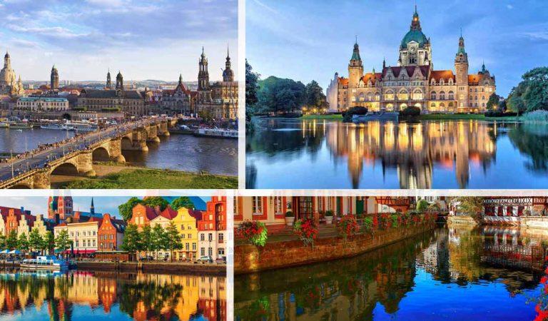 اين تقع المانيا وما هي مدنها و ولاياتها