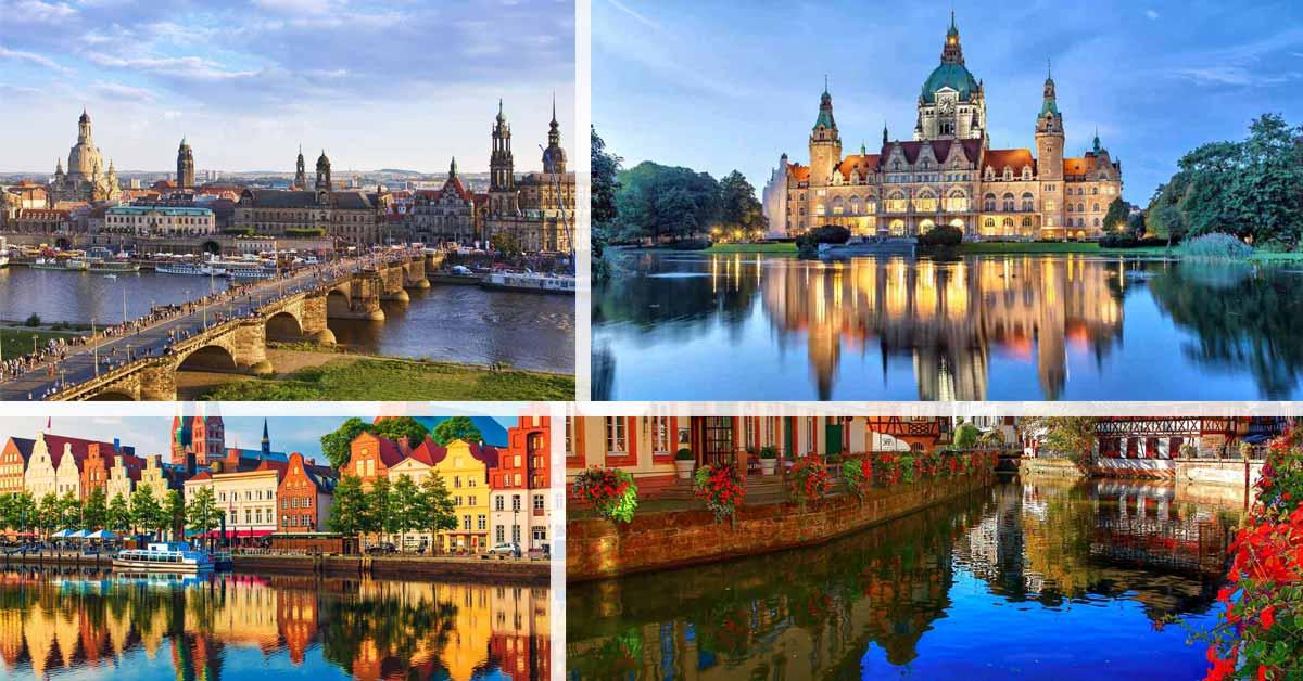 اين تقع المانيا وما هي مدنها و ولاياتها Deutsch Plus